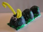 egg carton caterpiller(kid craft)