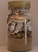 Rainbow jar(kid craft)