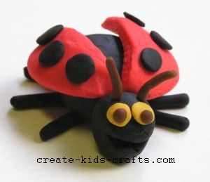playdough ladybug:create-kids-crafts.com