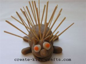 playdough porcupine