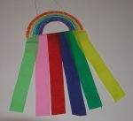 rainbow streamer(spring crafts for kids)